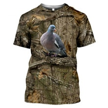 2021 Summer Casual Funny Men's and Women's Camouflage T-shirt Hunting Animal Rabbit 3D Fashion Stree