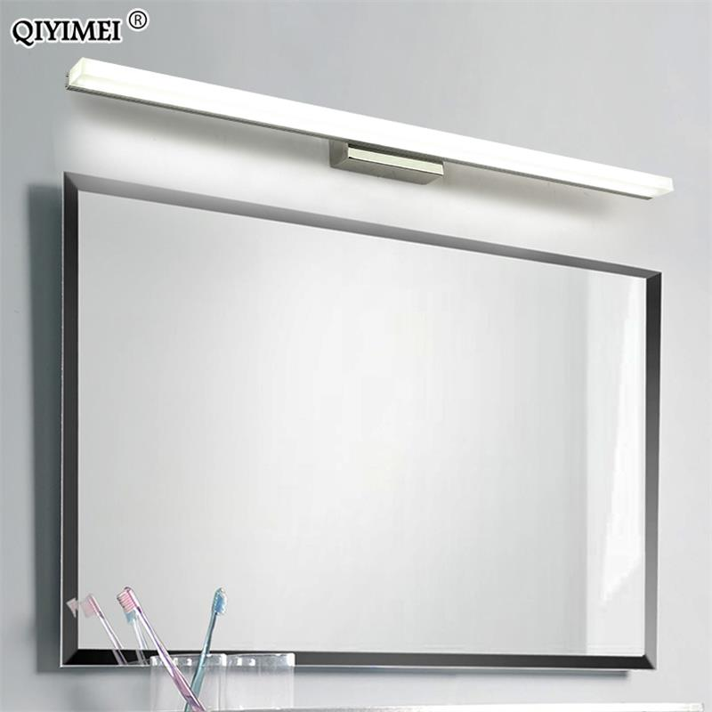 Led مرآة ضوء الفولاذ المقاوم للصدأ AC85-265V الحديثة الجدار مصباح أضواء الحمام 40 سنتيمتر 60 سنتيمتر 80 سنتيمتر 100 سنتيمتر 120 سنتيمتر جدار الشمعدانات ...