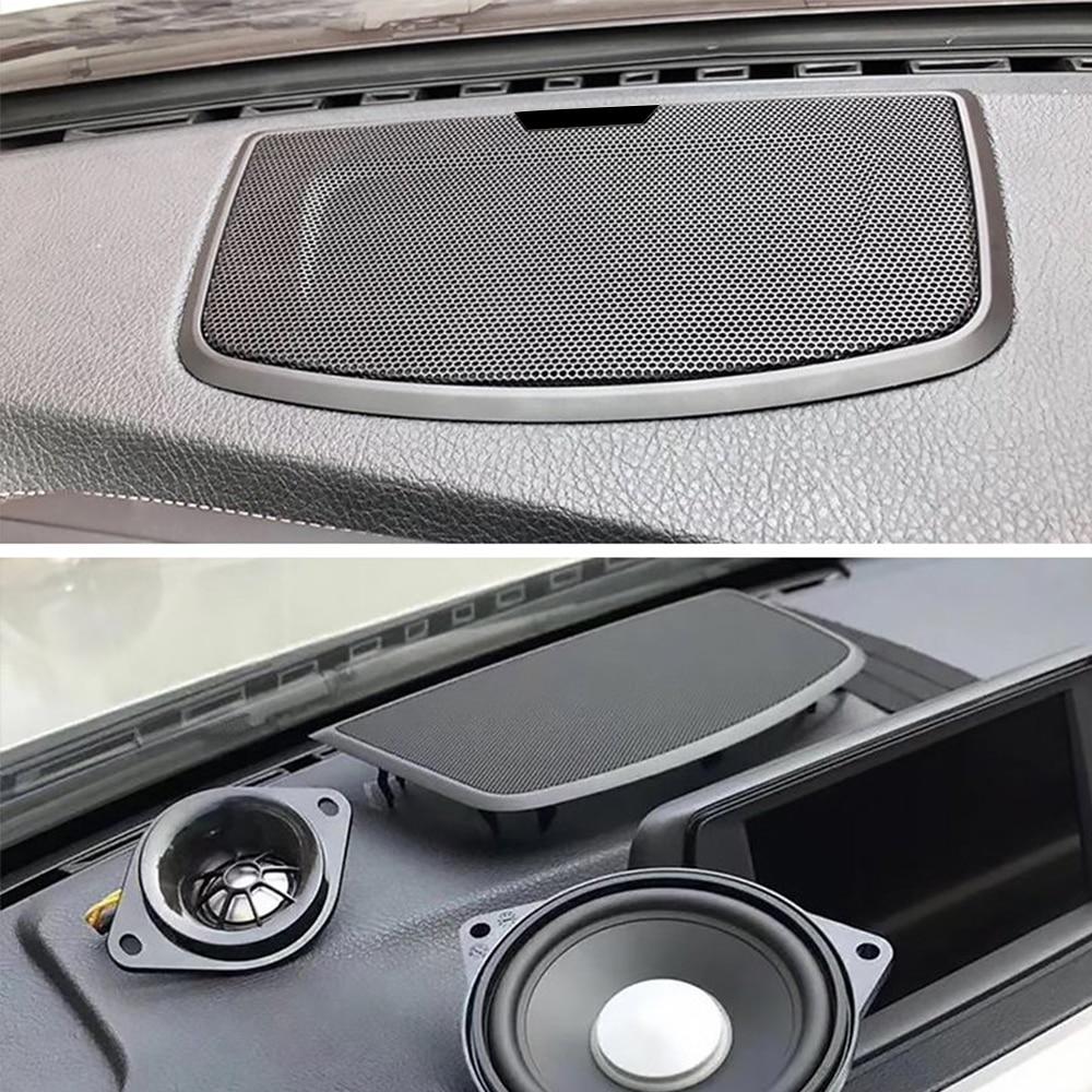 Araba merkezi konsol hoparlör kapağı BMW F10 F30 F32 F34 G30 serisi yüksek kaliteli ses hoparlör dekor koruma inşa