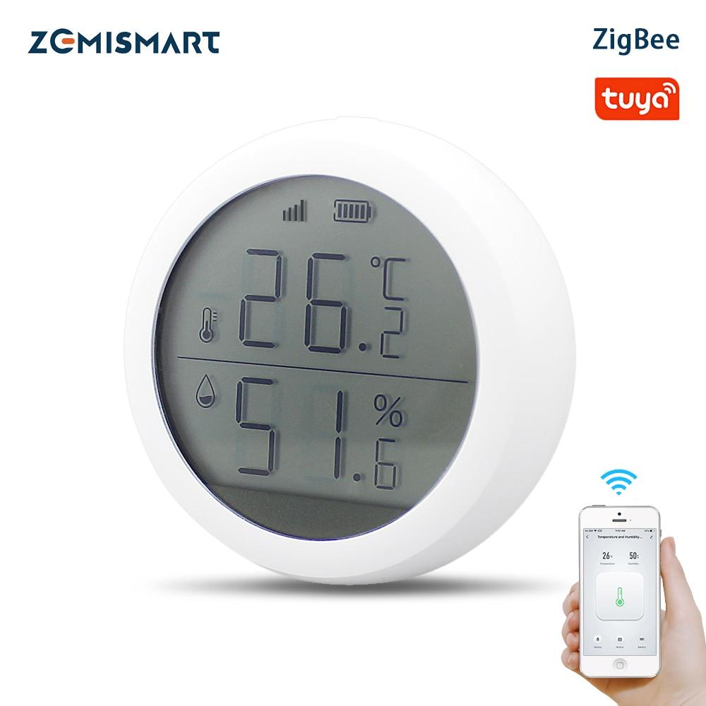 Zemismart – capteur de température et d'humidité Tuya Zigbee, avec écran LCD, moniteur en temps réel, pour maison intelligente, lien Intelligent