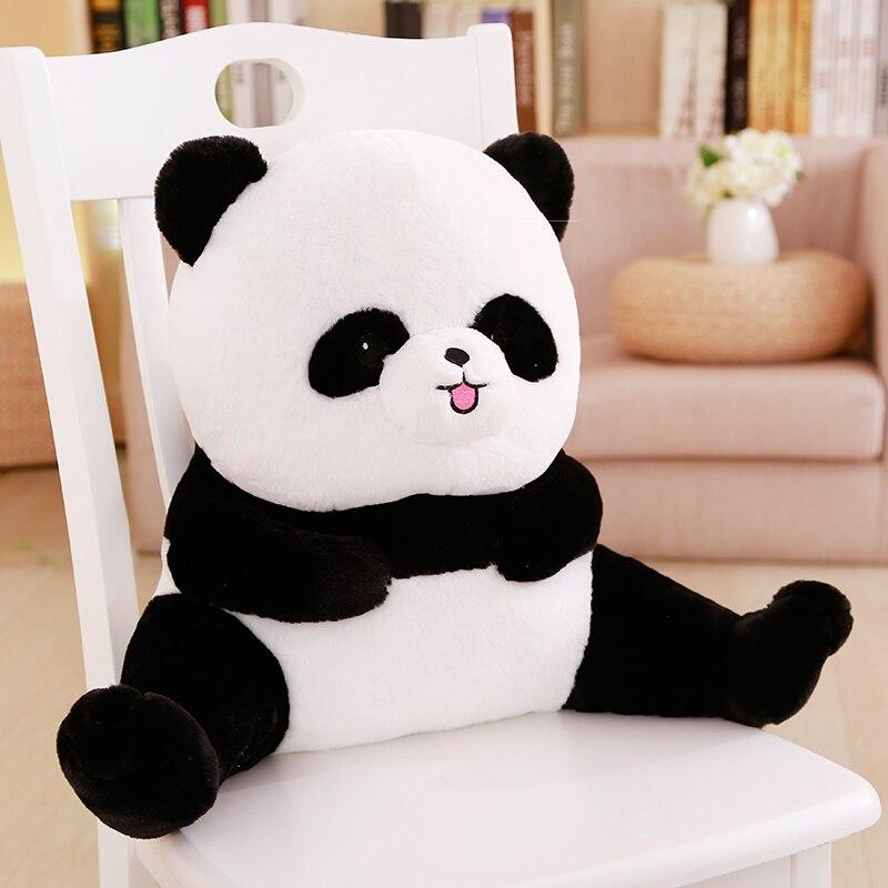 Animais de pelúcia lombar travesseiro apoio de volta recheado dos desenhos animados abraço panda porco ovelhas cão urso cadeira sofá encosto ht