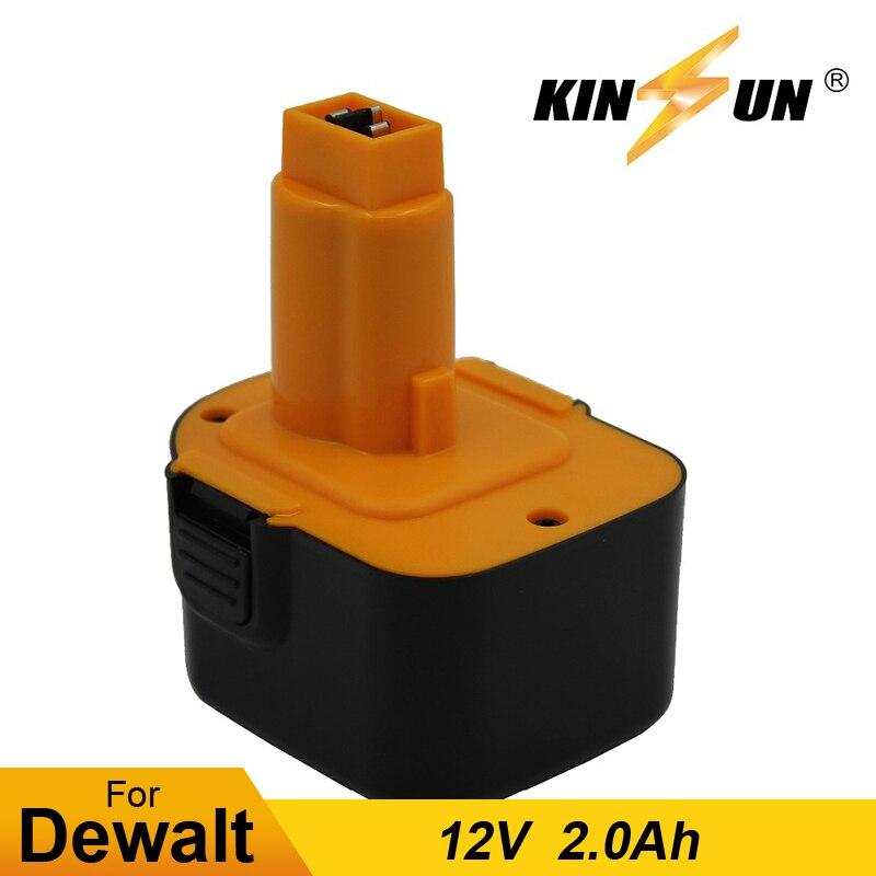 KINSUN Replacement Power Tool Battery 12V 2.0Ah for Dewalt Cordless Drill Screwdriver DC9071 DE9037 DE9071 DE9072 DE9074 DE9075