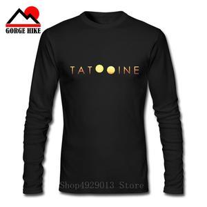 2019 Visit Tatooine Star T-Shirt Crew Neck Pure Cotton Men's Long Sleeve Tee Shirt Vintage Style Simple Plus Size Wars T Shirts