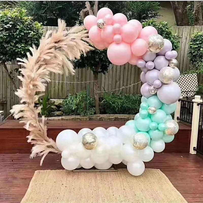 New Wedding decoration props circle wedding arch background wedding arch background arche birthday wrought iron decorative props