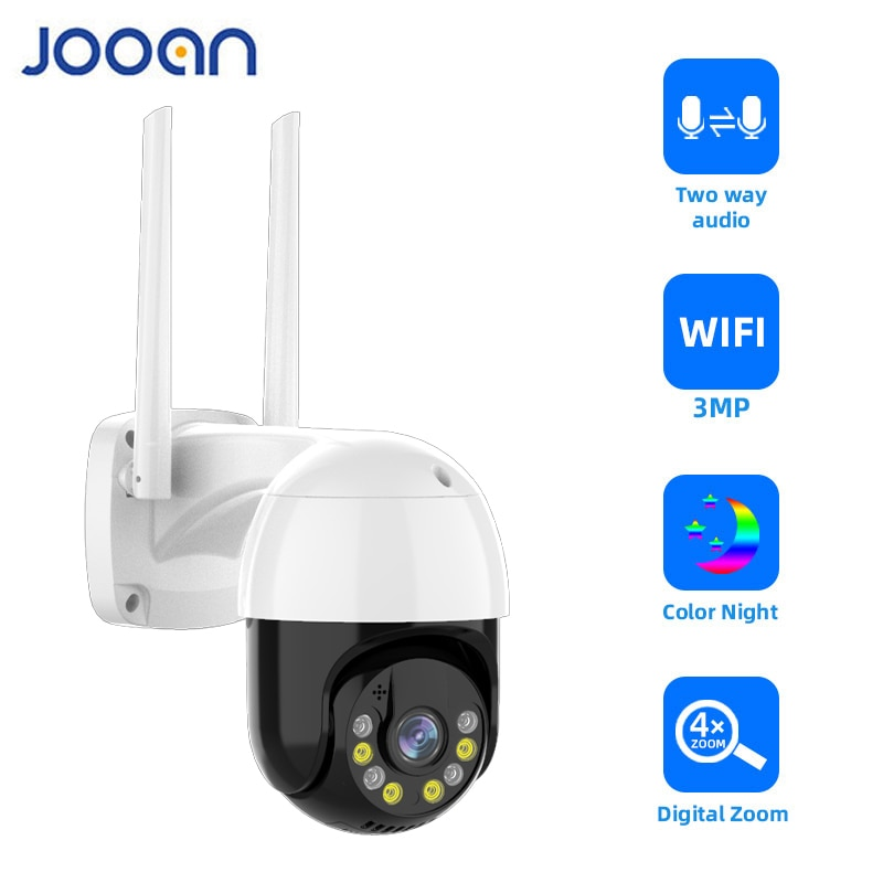 3MP PTZ WIFI IP Camera Outdoor 4X Digital Zoom Night Full Color Wireless H.265 P2P Security CCTV Cam