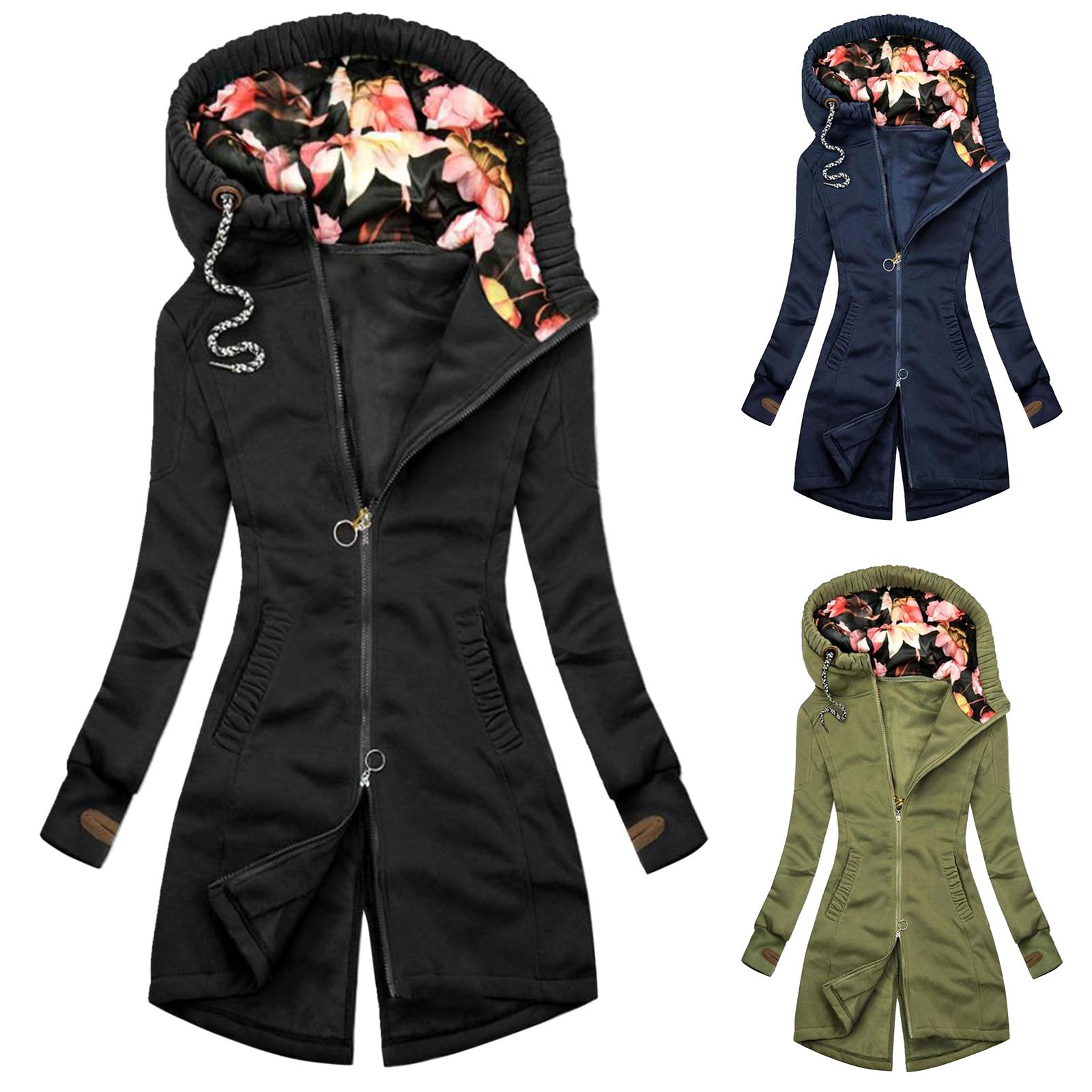 Фото - Зимнее женское пальто средней длины, женское модное тонкое Асимметричное пальто с капюшоном, куртка, пальто пальто средней длины с капюшоном