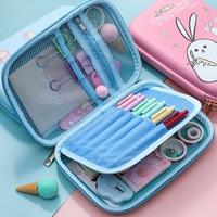 Cute korean Pencil Case Pencil Box Large Capacity Multifunctiona Kawaii Pencilcase Pen Case School Supplies For Girls Boy