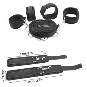 Adjustable Belt BDSM Restraint Fetish Handcuff Bondage Under Bed Set Sex Toys for Women Adult Gaming Play Accessories