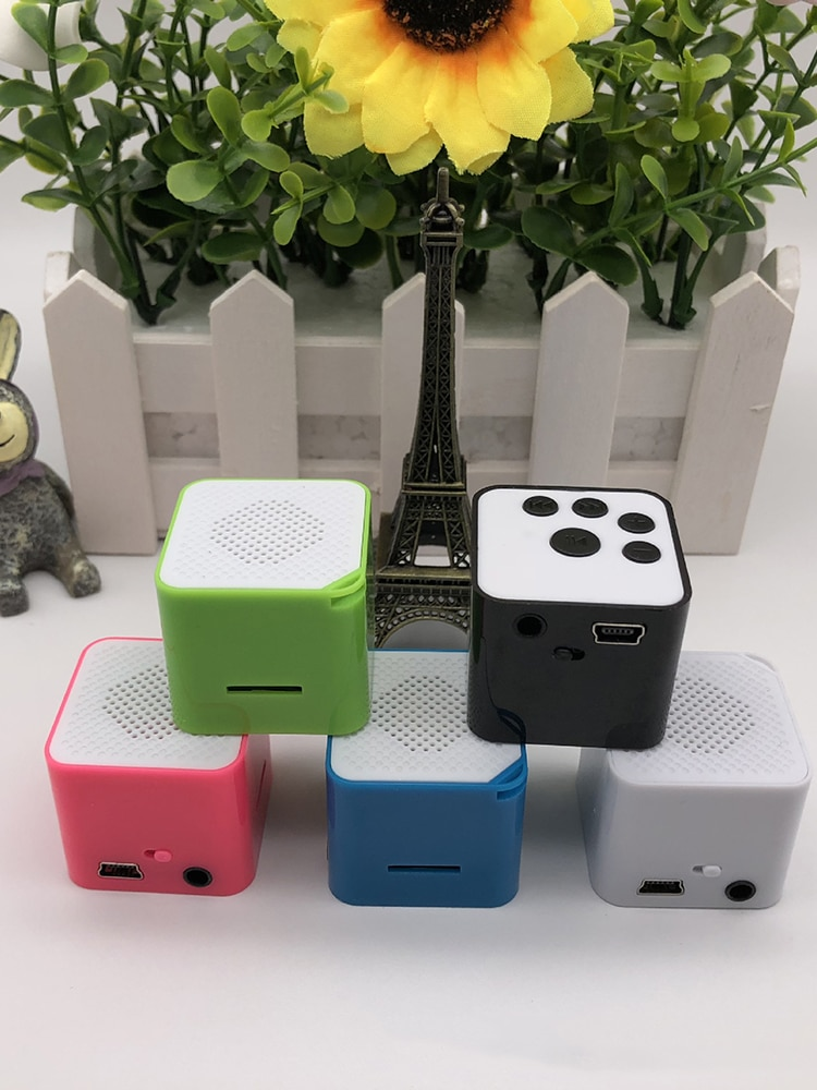 Wireless Portable external card Speaker Mini Music Audio TF USB 3.5mm jack Stereo Sound Speaker For Phone Xiaomi Computer column