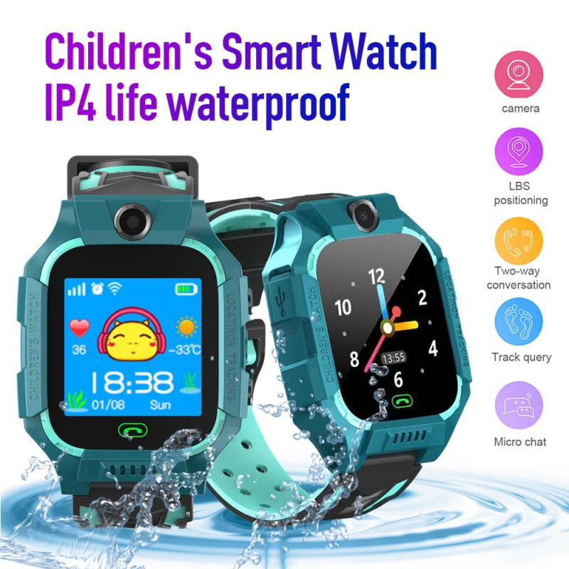 2021 New Bluetooth Smart Watch GPS GSM Touch Tracker SOS Call Voice Monitoring Watch Alarm With Camera For Kids Children