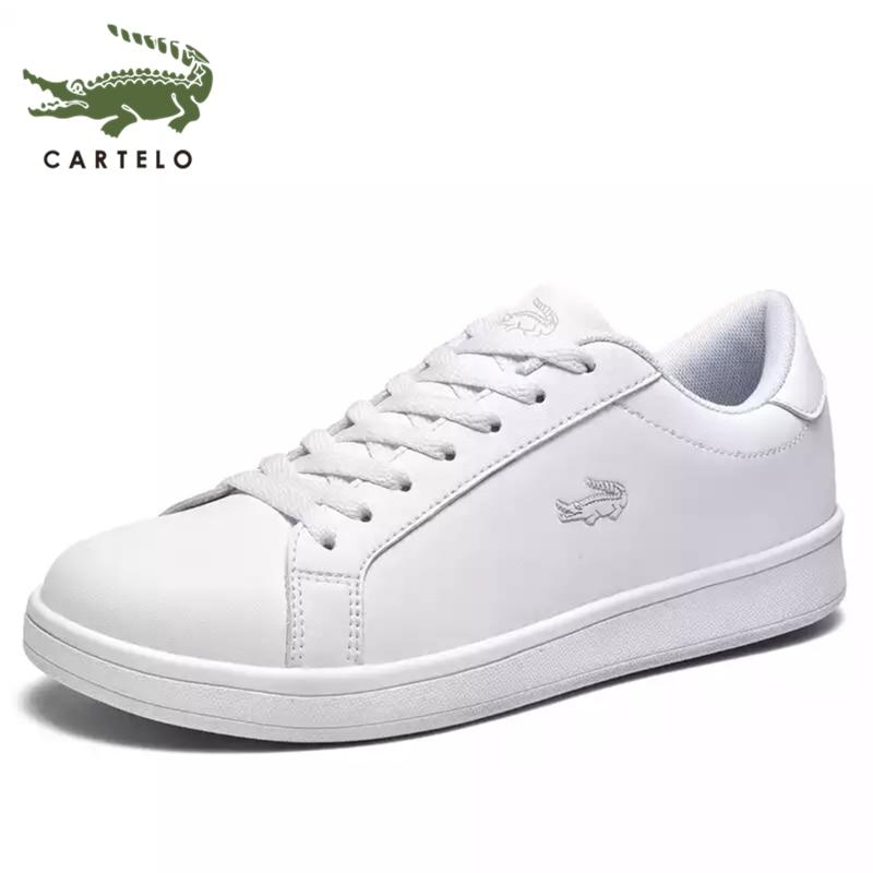 CARTELO men's shoes fashion British low-top lace-up shoes breathable trend sports casual shoes men