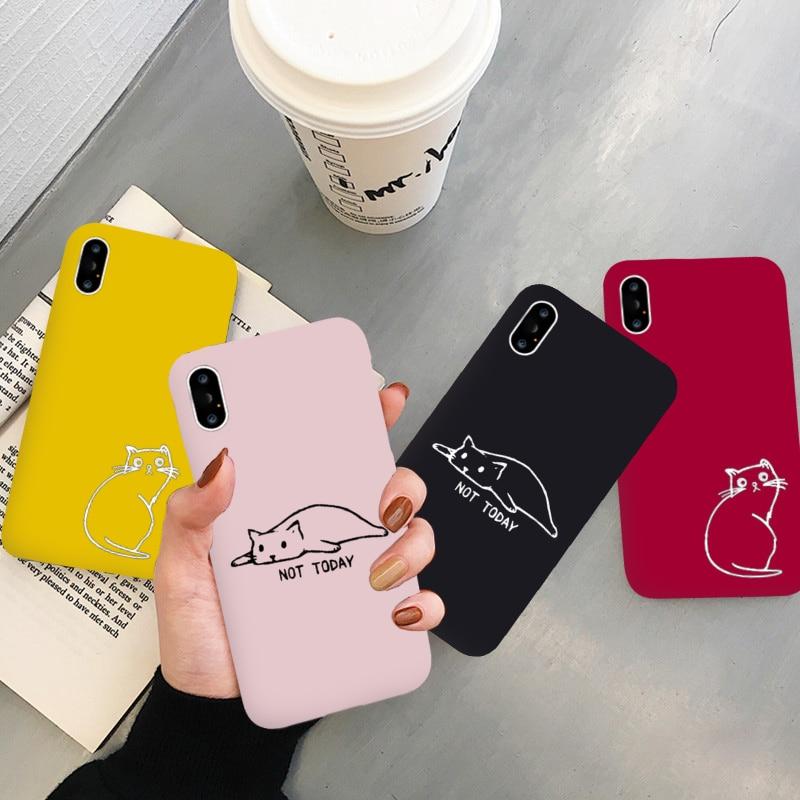Jamular kittens 고양이 귀여운 사탕 실리콘 전화 케이스 커버 Capa Fundas Coque For iPhone 7Plus 7 6Plus 6 6S 5SE 8 8Plus X XS Max