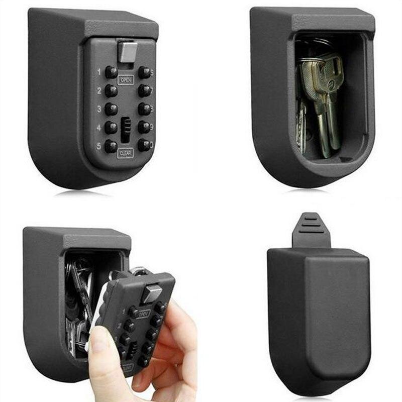 À prova de intempéries 10 senha digital montagem na parede ao ar livre chave combinação segura caixa de armazenamento bloqueio ferrugem livre preto casa escritório fábrica