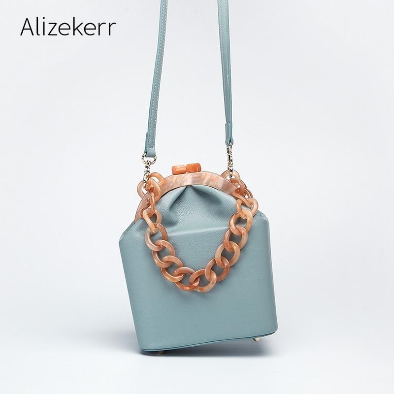 Femmes boîte sac à main sac à main de luxe concepteur 2019 acrylique épais chaîne Clip seau sacs femmes marques célèbres sacs à main et sac à main pour les filles