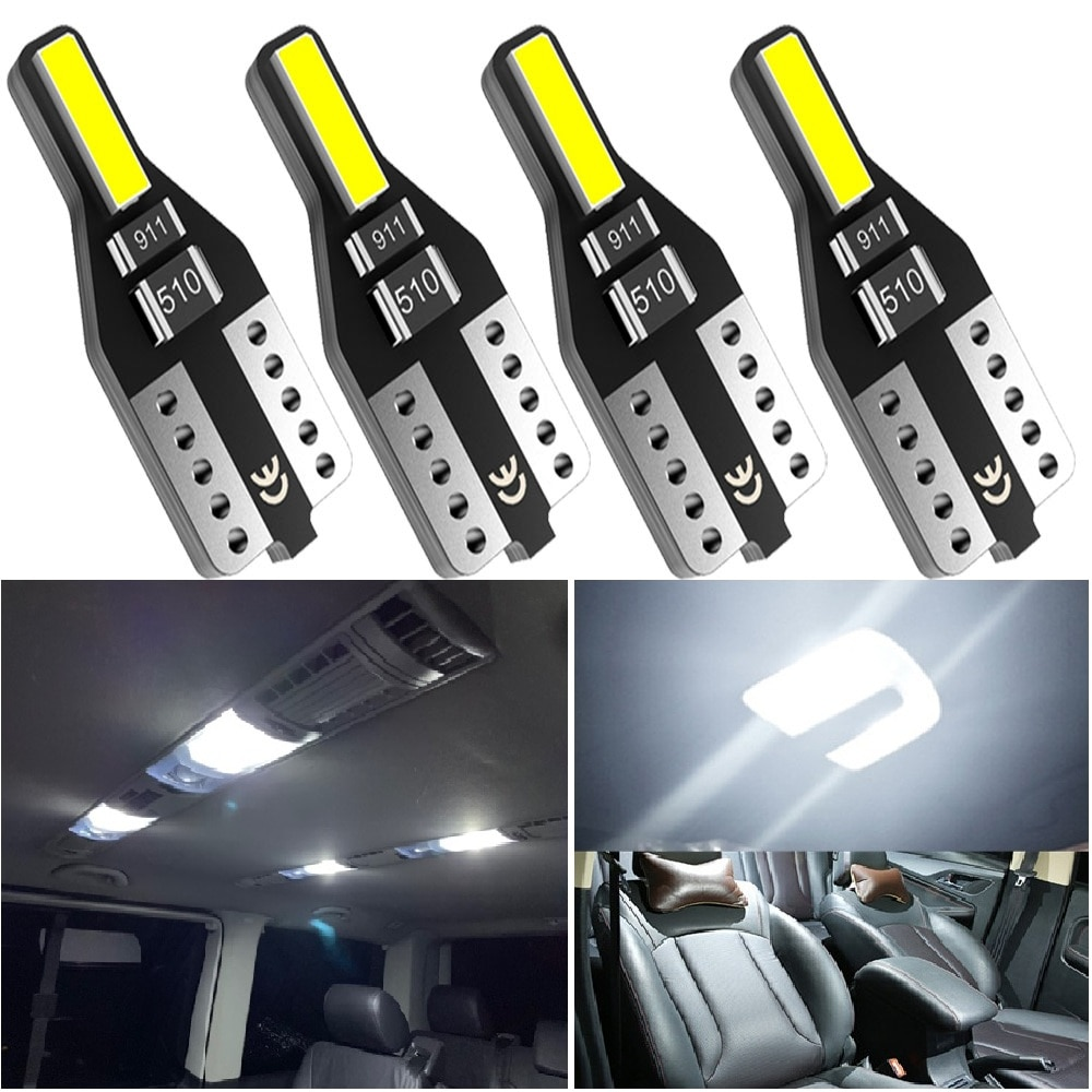 4Pcs W5W T10 LED Bulbs For Mercedes Benz W204 W203 W211 Volkswagen Polo Golf 4 Mitsubishi 168 194 LED Car Interior Light