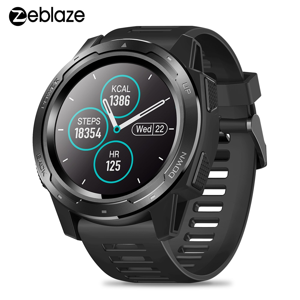 Zeblaze Vibe 5 Smart Watch Heart Rate Monitor 1.3 Inch Ips Color Display Pedometer Multi Sport Modes Smartwatch