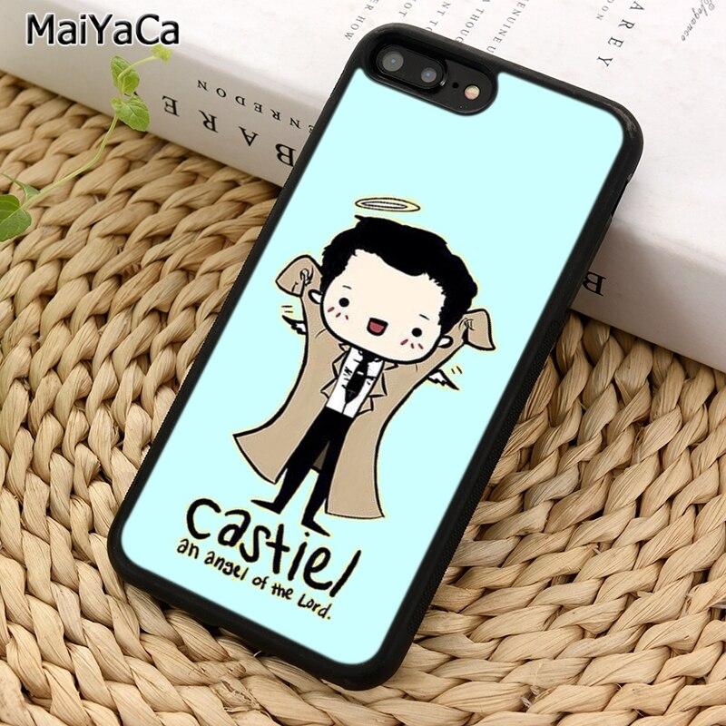 Maiyaca castiel anjo do senhor sobrenatural caso de telefone para iphone 6s 7 8 plus 11 pro x xr xs max samsung galaxy s7 s8 s9 s10