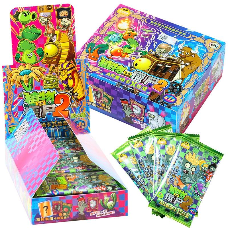 Зомби 2 карты горох Peashooter гатлинг Подсолнух чомпер бумажные буквы игры Детская Коллекция аниме детский подарок игральная игрушка