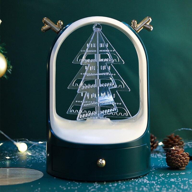 New Christmas Jewelry Box Gift Box Jewelry Ring Box Jewelry Organizer Used to Decorate Storage Earrings Necklace Storage Box