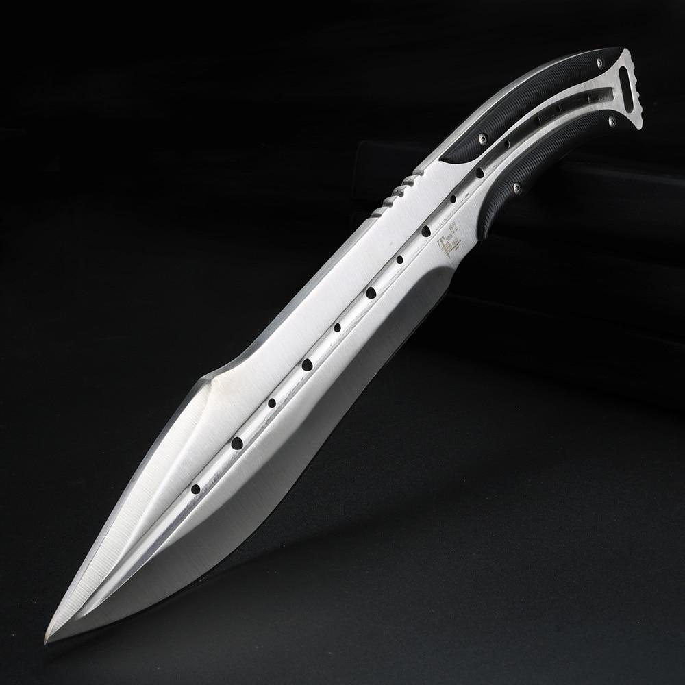 سكين صيد يدوي للرجال ، أداة الغوص ، تانغ كامل ، للاستخدام الخارجي ، بشفرة ثابتة