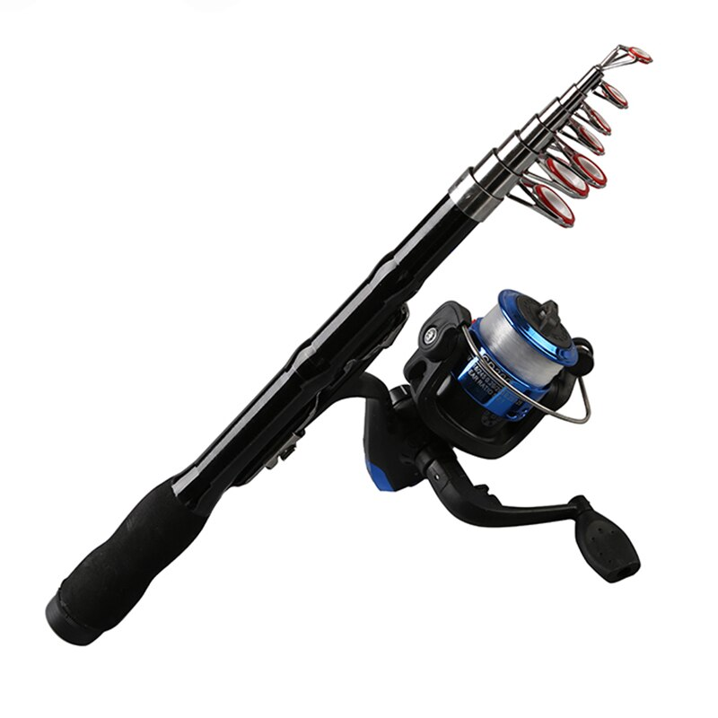 Mini Portable Telescopic Fishing Rod Spinning Carbon Fish Hand Fishing Tackle Sea Rod Ocean Rod Fishing Pole