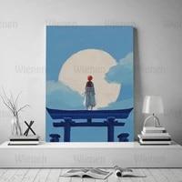 Peinture de decor moderne anime garcon bleu ciel  image modulaire HD imprimee  affiche de decoration interieure  toile sans cadre