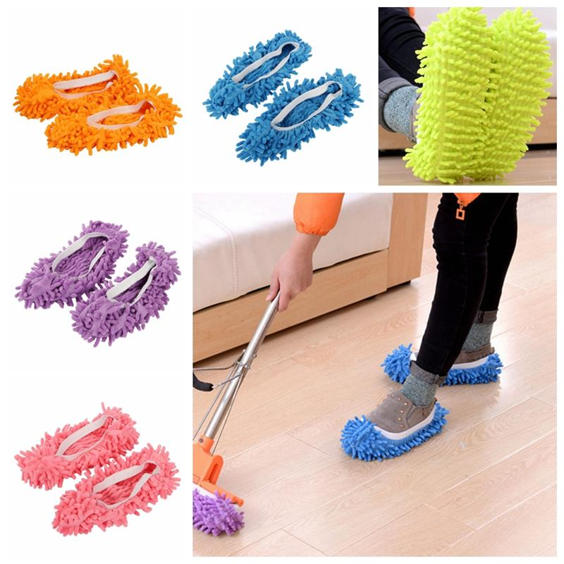 triangle dust removal mop stainless steel lengthen retractable dust brush sweeping wall Mop Slippers House Cleaning Dust Removal Lazy Floor Wall Dust Removal Cleaning Feet Shoe Covers Washable Reusable Microfiber