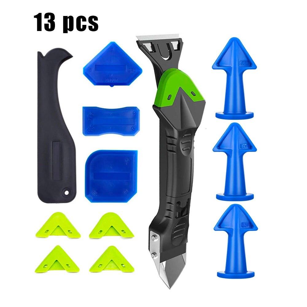 5 in 1 Caulking Tool Kit with 4 Silicone Caulk Finishing Tool Set 3 Pcs Caulk Nozzle Applicator Silicone Caulking Tools