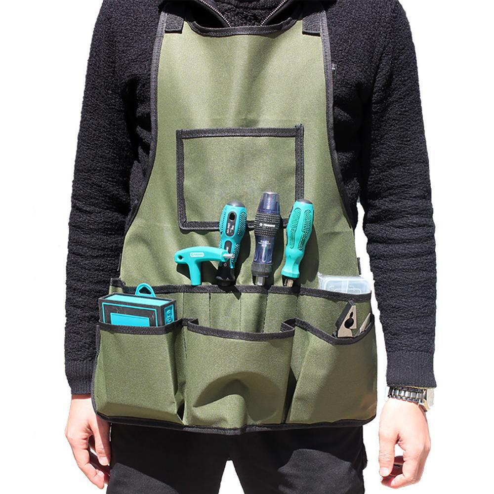 Avental de trabalho multi bolso avental utilitário impermeável wear-resistant jardim macacão ajustável jardim trabalho avental para trabalhadores do jardim
