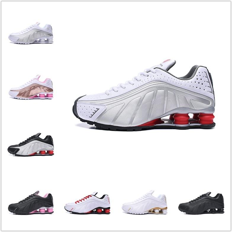 جديد وصول رائجة البيع Zapatillas Hombre أحذية رياضية Shox R4 الرجال احذية الجري رياضة المدربين أحذية رياضية أحذية للنساء 2021