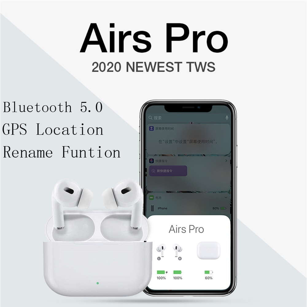Newest version Airs Pro3 tws bluetooth écouteurs écouteurs GPS renommer PK Air Max  i200000 i100000 i500 tws pro