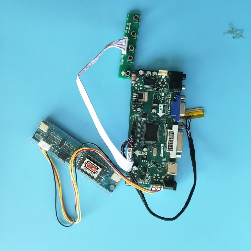 كيت ل LTN154CT02-002/LTN154CT02-001 30pin HDMI + DVI + VGA LCD الصوت DIY تحكم مجلس 1920x1200 سائق شاشة لوحة 2 مصابيح