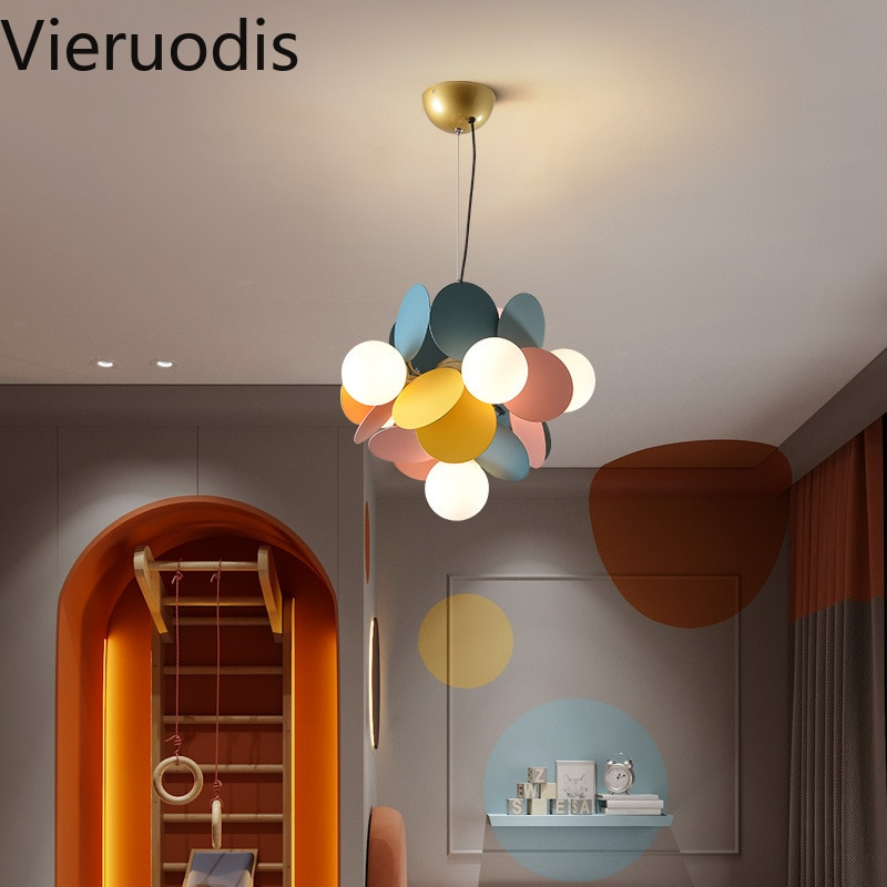 Flower Branch Led Iron Chandelier Home Light Decoracion for Children's Room Living Room Lustre Ceiling Lamp Indoor Lighting 2020 enlarge