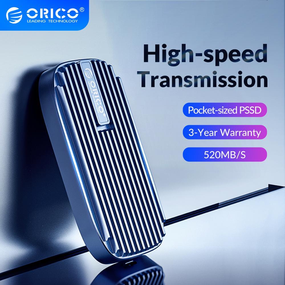 ORICO CN210 Mini Portable SSD 480GB 240GB Type-C 520M/S External Solid State Drive M.2 SATA NGFF USB C External SSD Hard Drives