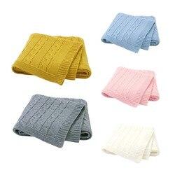 Cobertor de malha do bebê recém-nascido infantil inverno da criança crianças carrinho cama cobre swaddle saco de dormir berço ar condicionado colcha