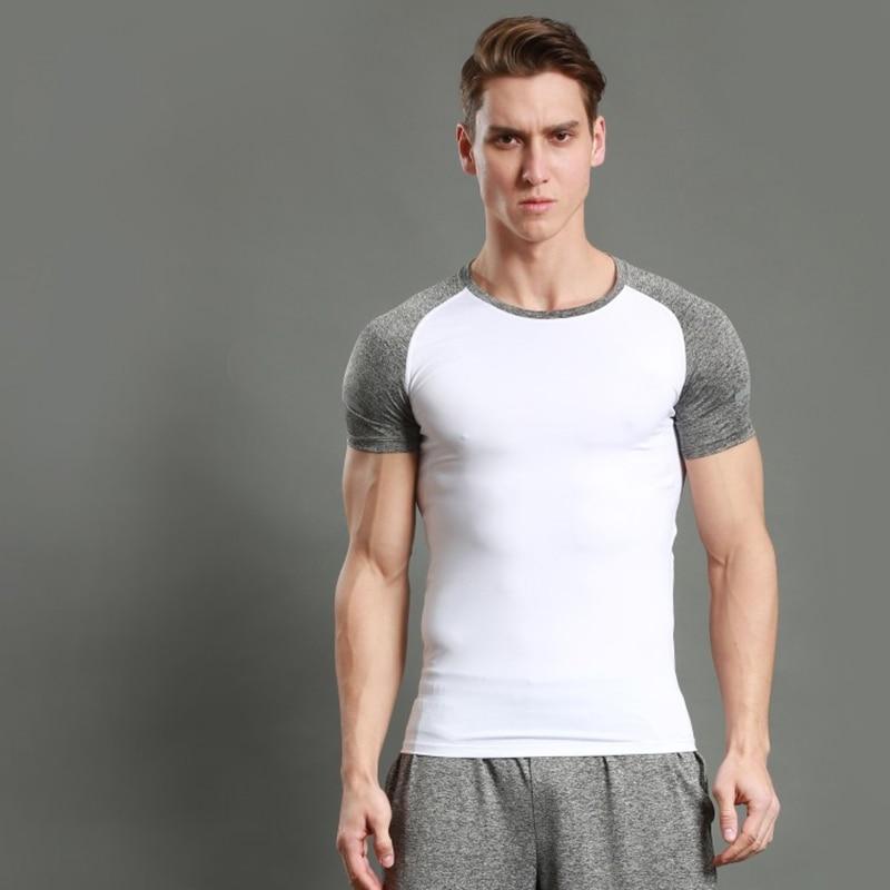 Camiseta de secado rápido para hombre, camisetas para Fitness, gimnasio, correr para hombre, camisetas de manga corta, ropa deportiva de entrenamiento