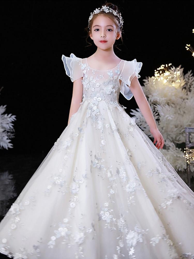 فستان إشبينة العروس طويل مطرز عتيق ، فستان أميرة ، موضة ، فستان حفلة موسيقية