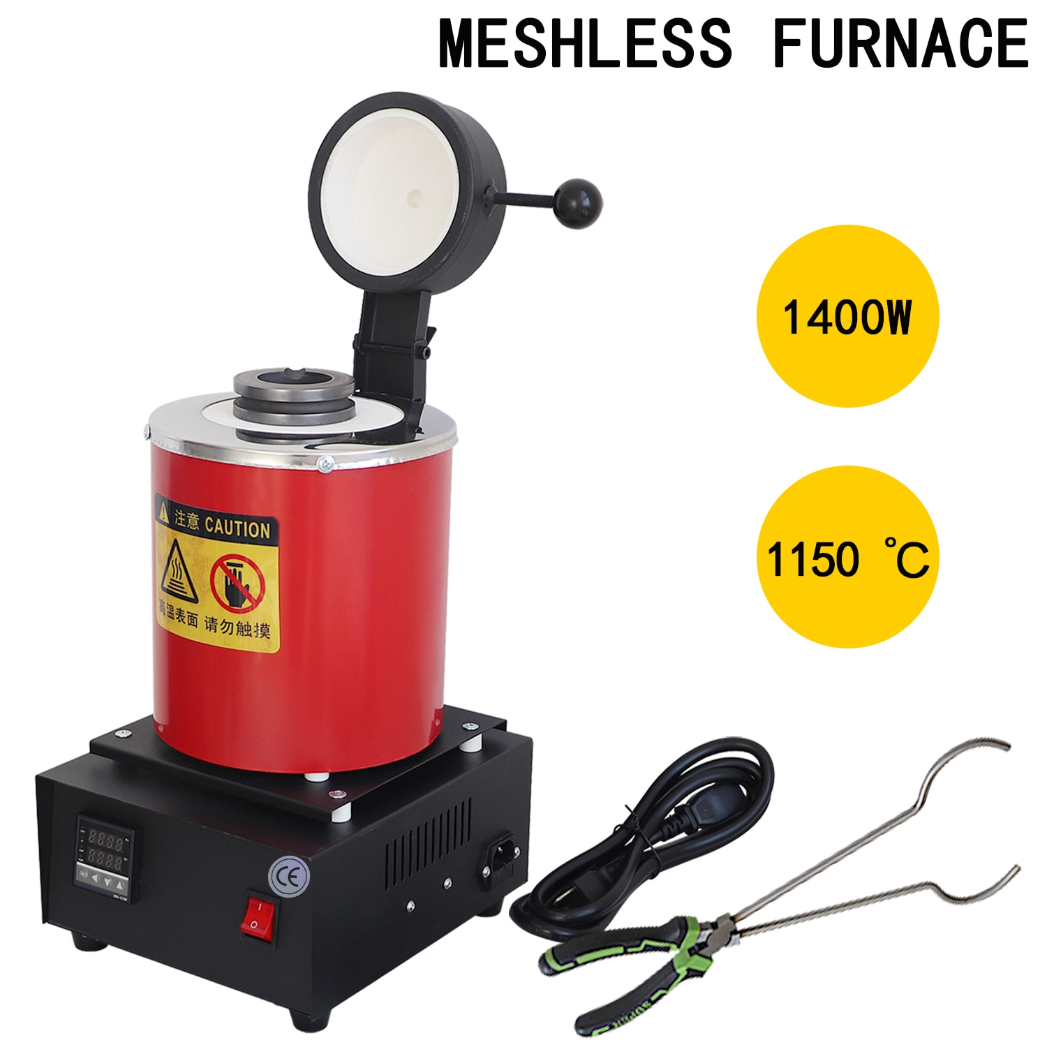 220v 110v 1~3kg Gold Melting Furnace 1400W Portable Graphite Crucible Furnace Jewelry Casting Equipment And Tools