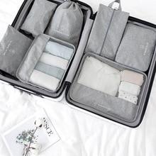 New Travel Set 7pcs/set Travel Bag Organizer Luggage Suitcase Packing Cube 2021 Shoe Clothe Storage