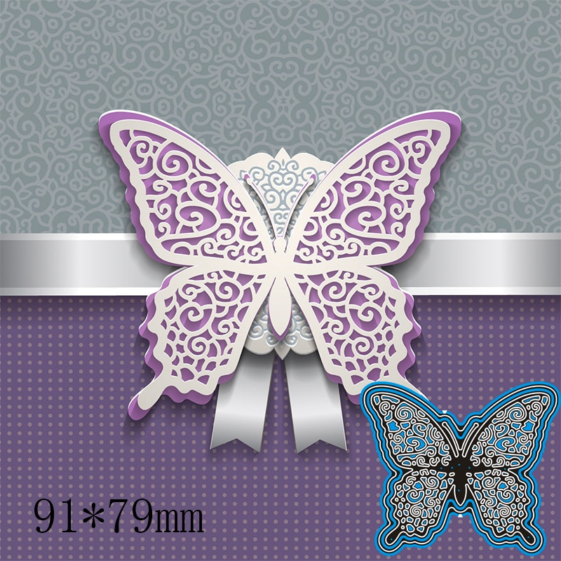 91*79mm Hollow Butterfly Cutting Dies DIY Scrap Booking Photo Album Embossing Paper Cards