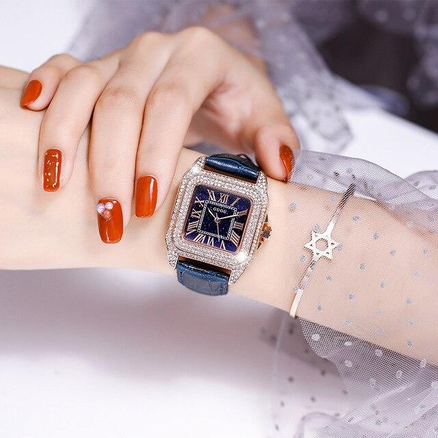Marca de Luxo Relógio de Ouro Relógios de Pulso para Feminino Diamante Relógio Feminino Strass Elegante Senhoras Relógios Novo 2021