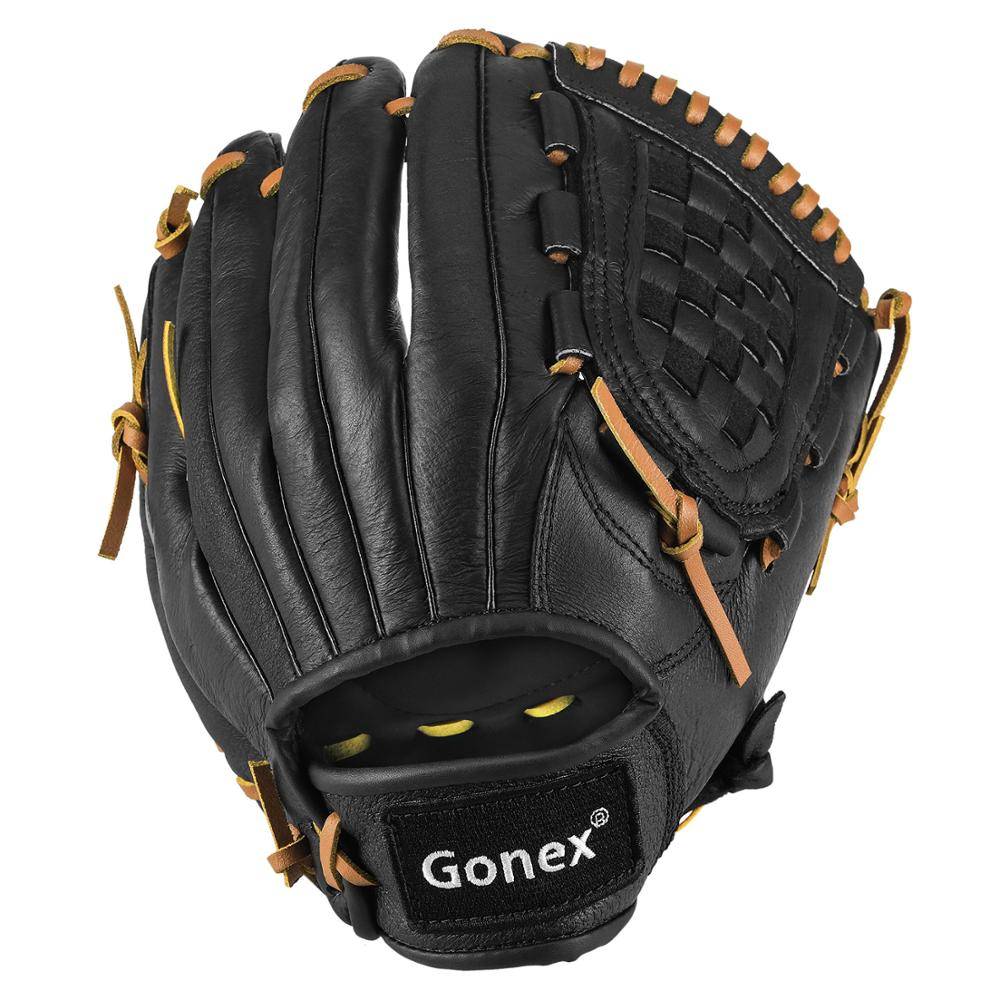 Guante de béisbol de Gonex para adultos, guante de softbol de campo lento de lanzamiento rápido para hombres y mujeres de 12,5 pulgadas de campo en el campo a mano derecha