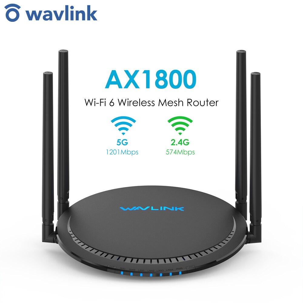 Wavlink Wi-Fi 6 Wireless Mesh Router AX1800 Dual Band Gigabit Router EasyMesh Controller/Agent Modes 4*External 5 dBi Antenna
