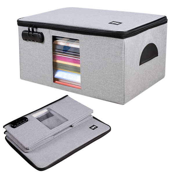 Домашний Складной портфель для офиса A4, сумка для хранения документов, кредитная карта, кошелек, большая емкость, органайзер, аксессуар