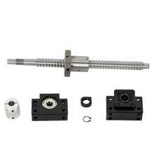 Vis à billes SFU1605 Anti-retour L360MM & BF12/BK12 Support dextrémité + ensemble de coupleur