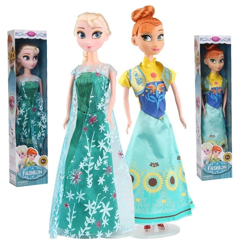 30cm Disney Cartoon Frozen Princess Doll Kawaii Elsa Anna action figure model Toys Birthday Christmas Gifts toys For children