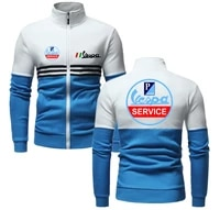 spring autumn new vespa logo casual fashion up and down two colors patchwork jacket men classic style tops men delicate jacket
