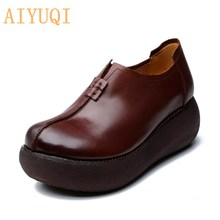 AIYUQI Women Shoes Platform 2021 Spring New Women Shoes Casual Made Of Genuine Leather Women Platfor