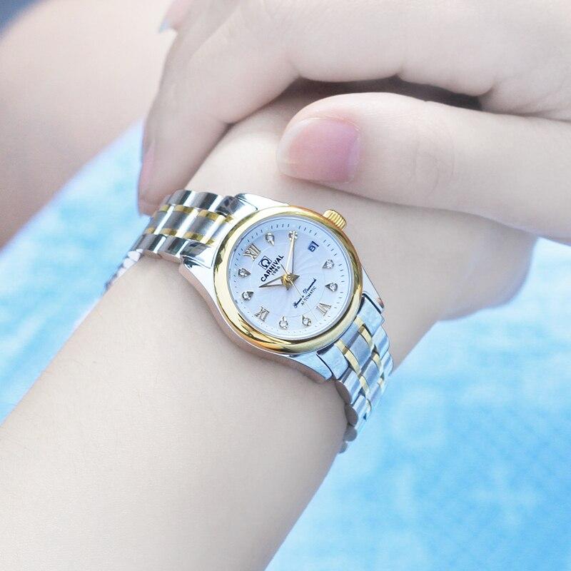 Switzerland CARNIVAL Brand Fashion Ladies Watches Women Luxury Waterproof Dress Mechanical Automatic Wristwatch 2020 Relogio Fem enlarge