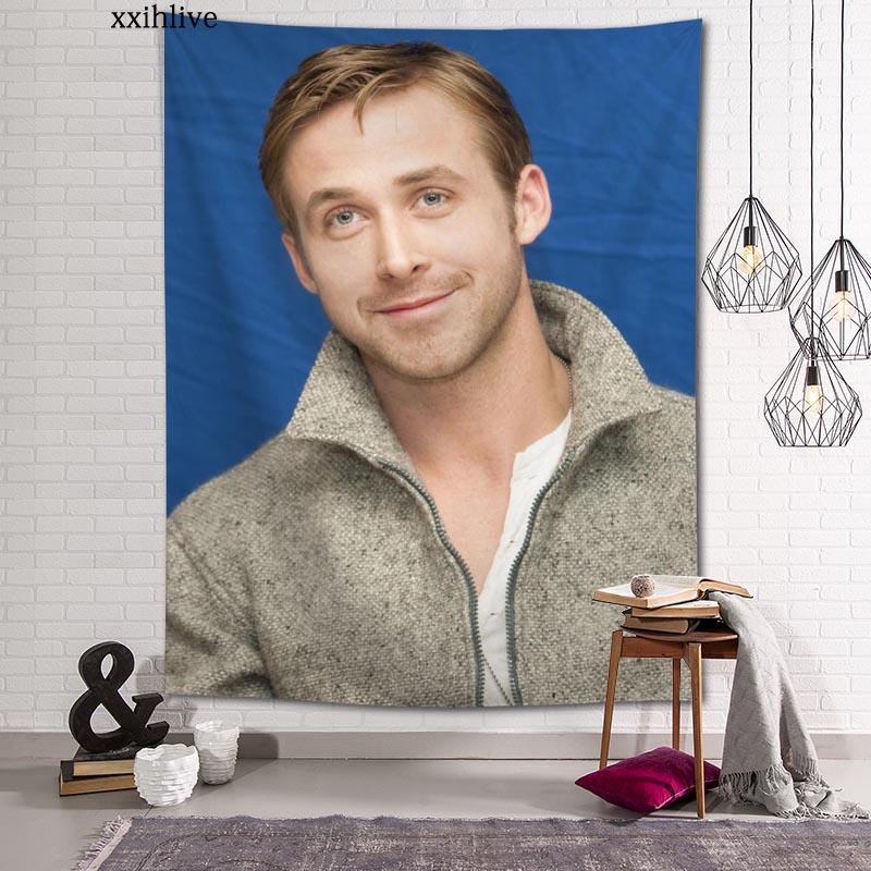 Настенное покрытие Райан Гослинг на заказ, подвесное тканевое покрытие для стен, домашний декор, одеяло, гобелен для спальни, гостиной